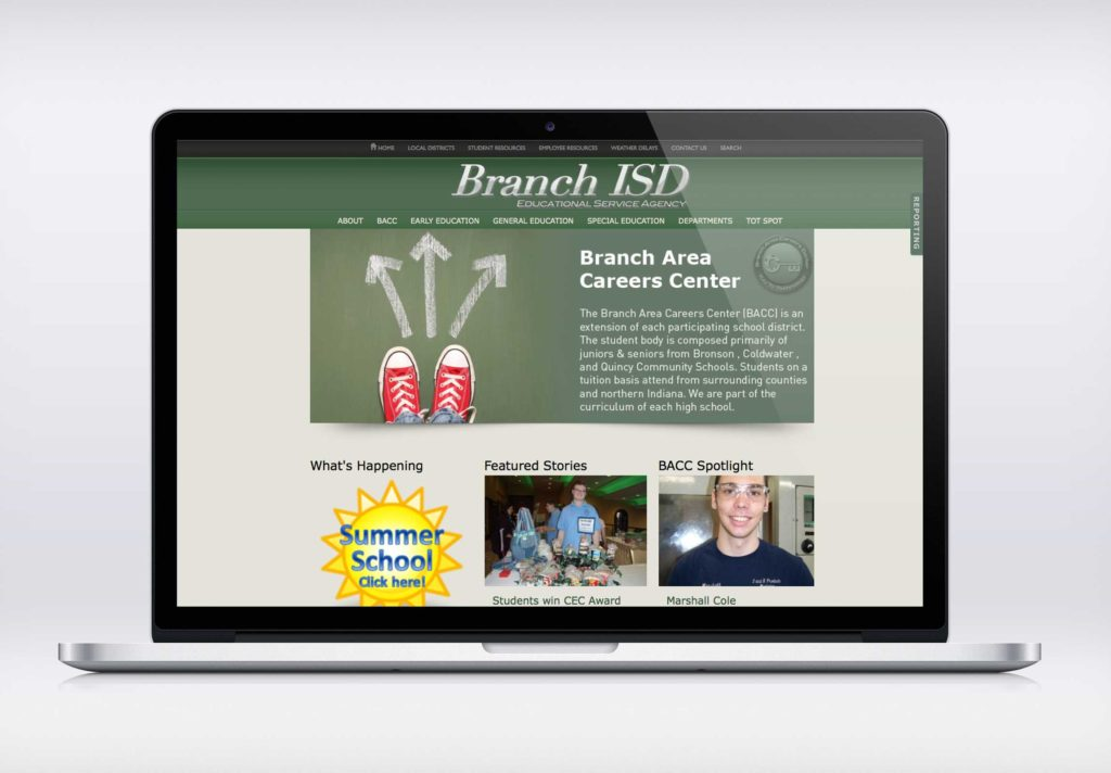 BACC Laptop Screen -Imagination FX   Web design & Internet Marketing