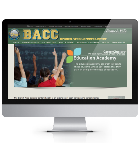 BACC Screen -Imagination FX | Web design & Internet Marketing