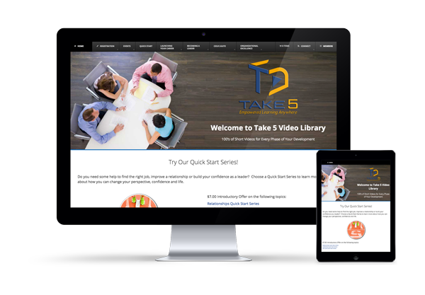 Take 5 Screen -Imagination FX | Web design & Internet Marketing