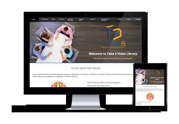 Take 5 Screen -Imagination FX | Web design & Internet Marketing